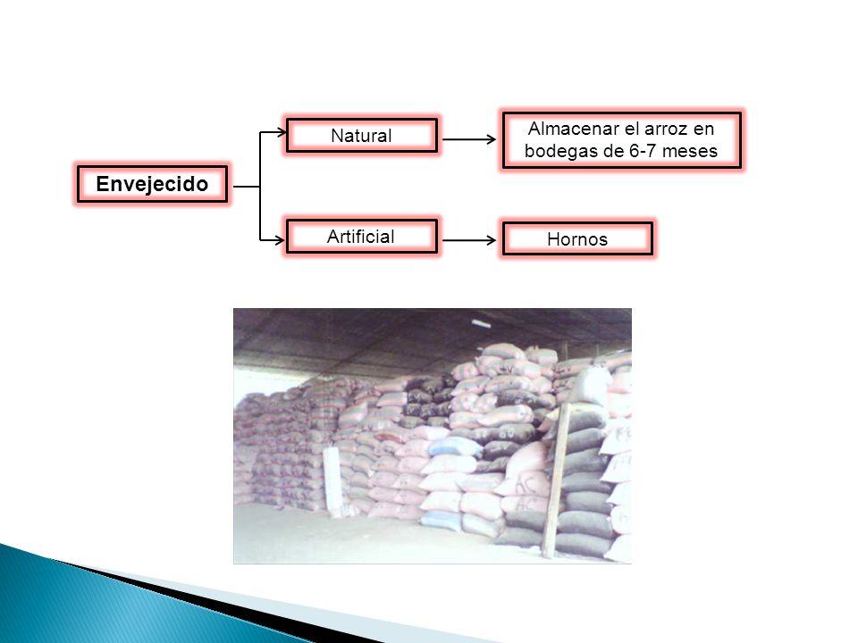 Almacenar el arroz en bodegas de 6-7 meses