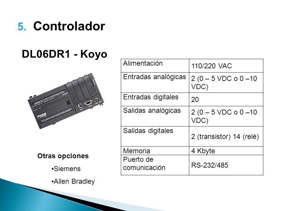 Controlador DL06DR1 - Koyo 110/220 VAC Alimentación