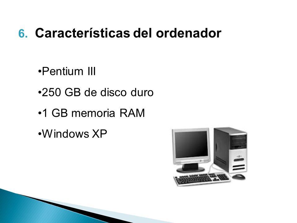 Características del ordenador