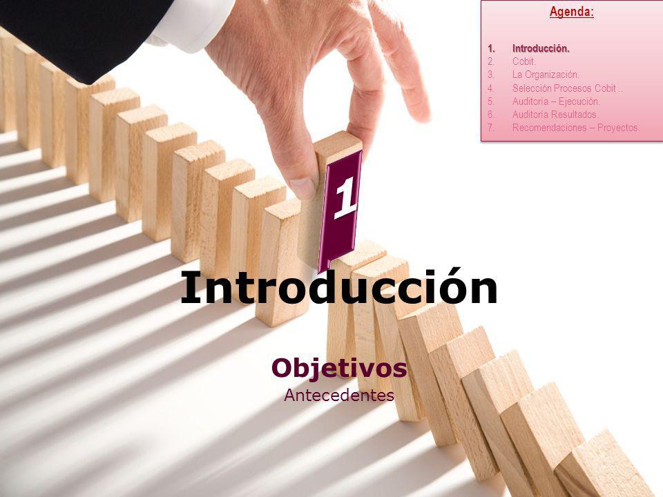 1 Introducción Objetivos Antecedentes Agenda: Introducción. Cobit.