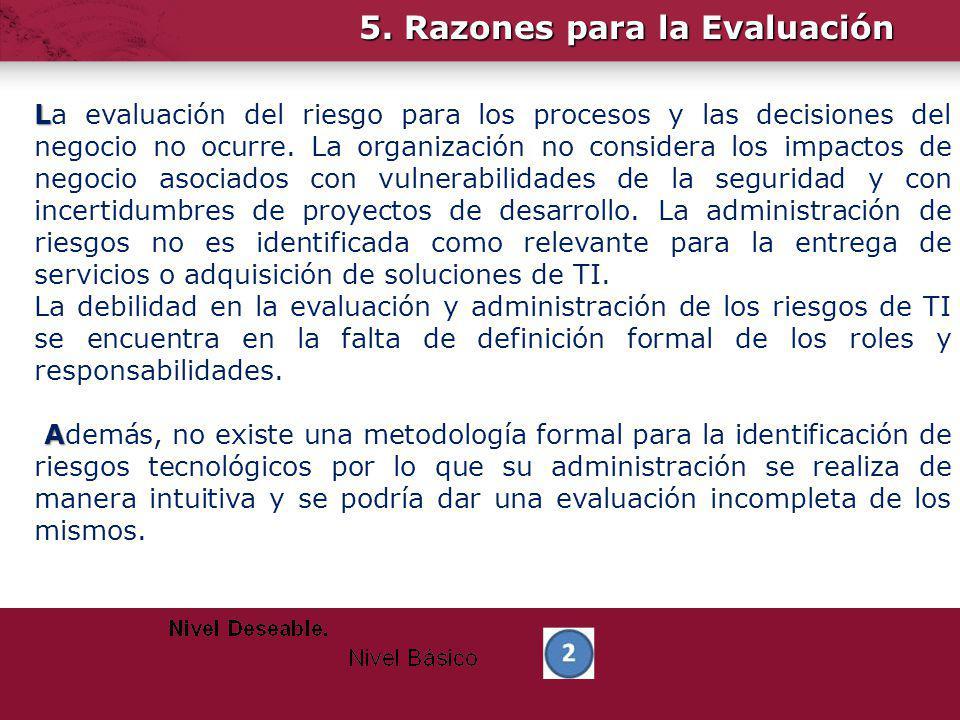 5. Razones para la Evaluación