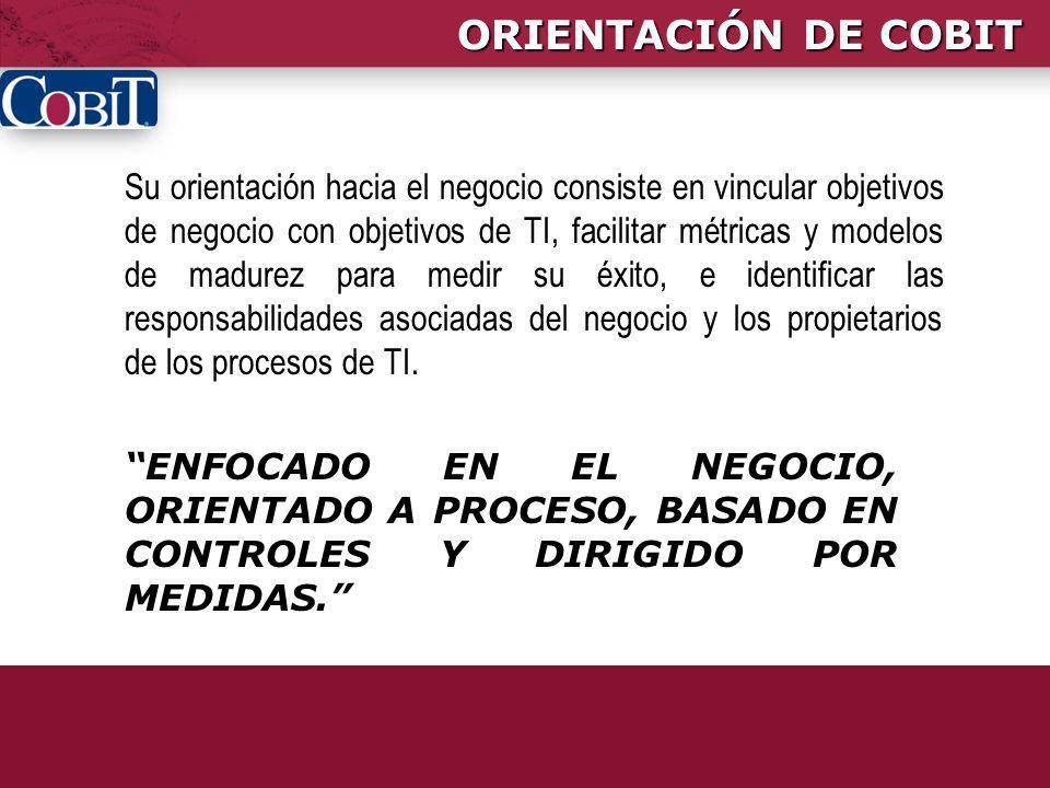 ORIENTACIÓN DE COBIT
