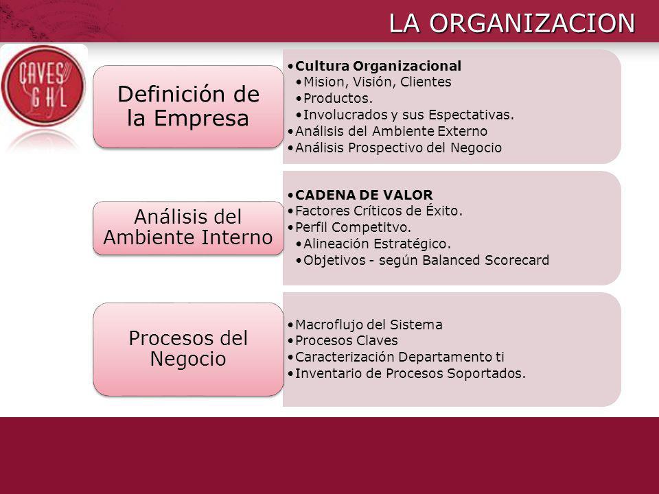 LA ORGANIZACION Definición de la Empresa