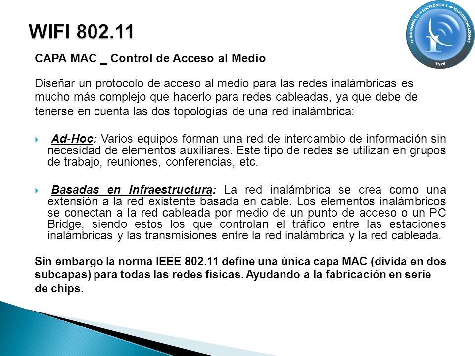 WIFI 802.11 CAPA MAC _ Control de Acceso al Medio