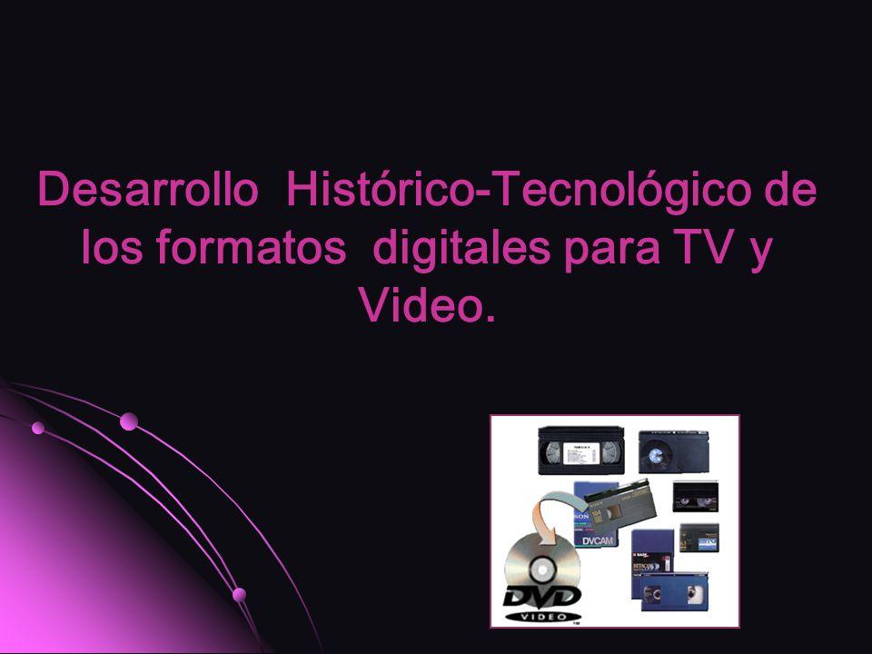 Desarrollo Histórico-Tecnológico de los formatos digitales para TV y Video.