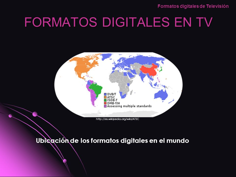 FORMATOS DIGITALES EN TV