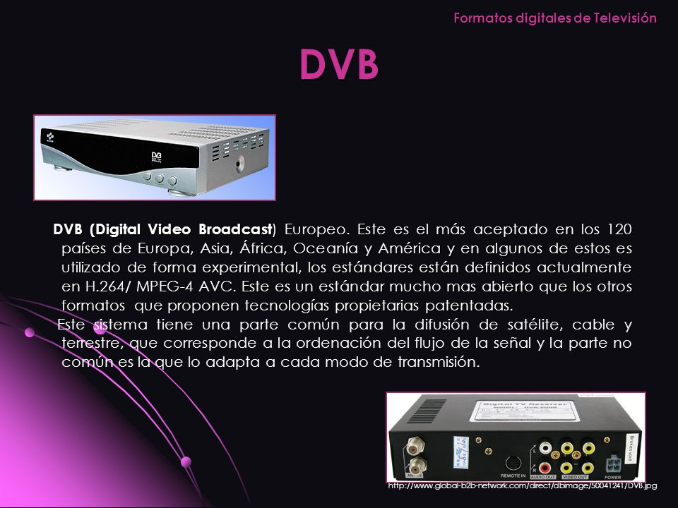 Formatos digitales de Televisión