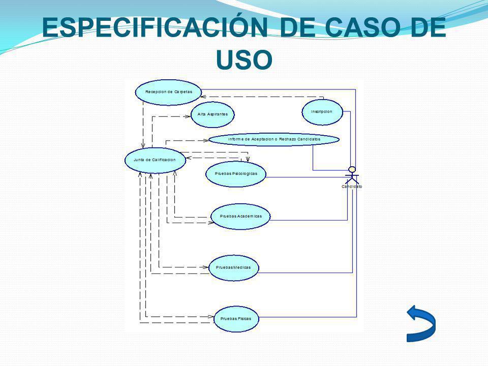 ESPECIFICACIÓN DE CASO DE USO