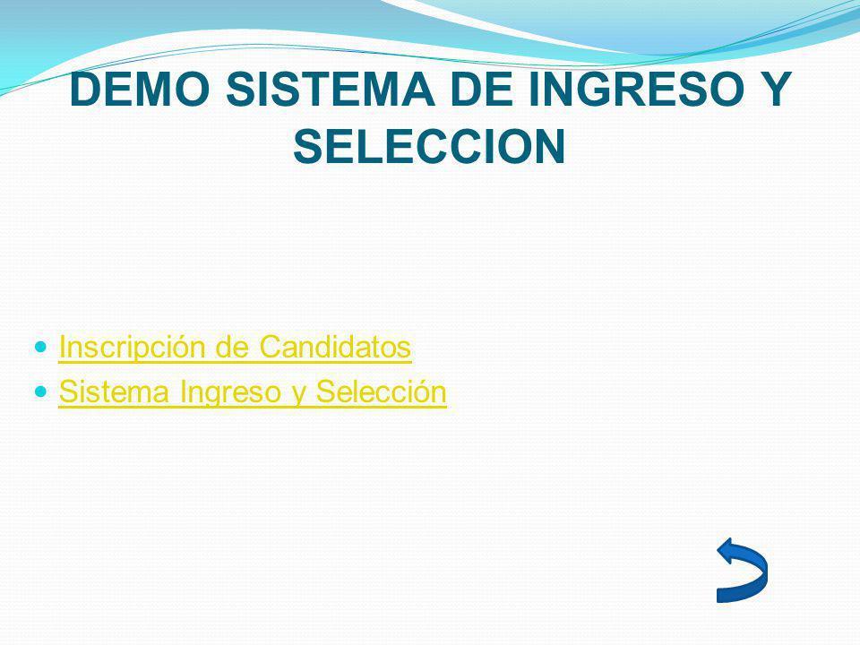 DEMO SISTEMA DE INGRESO Y SELECCION