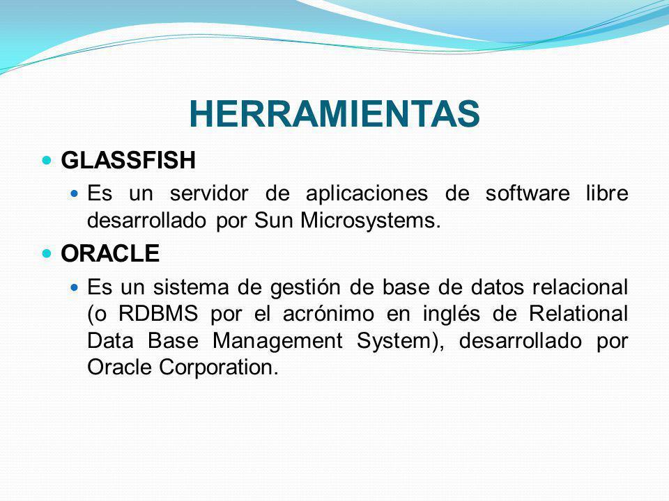 HERRAMIENTAS GLASSFISH ORACLE