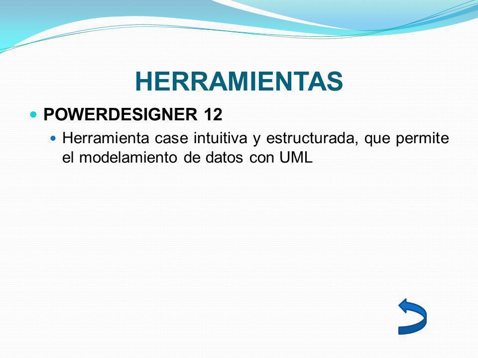 HERRAMIENTAS POWERDESIGNER 12