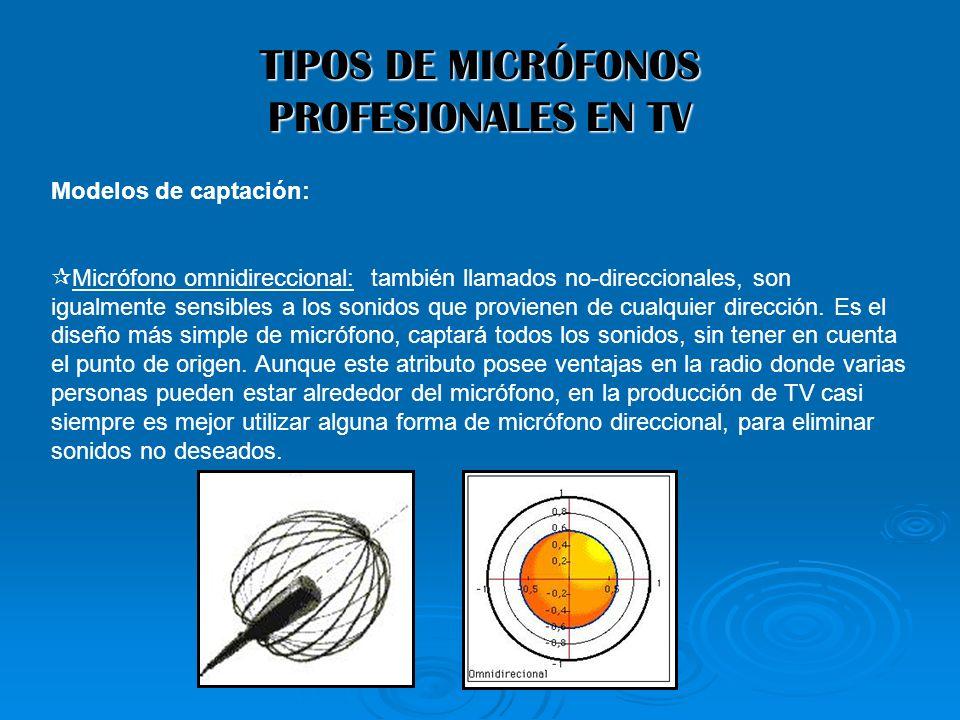 TIPOS DE MICRÓFONOS PROFESIONALES EN TV