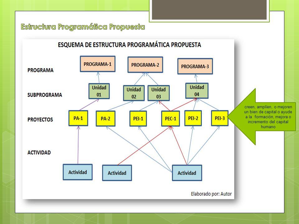 Estructura Programática Propuesta
