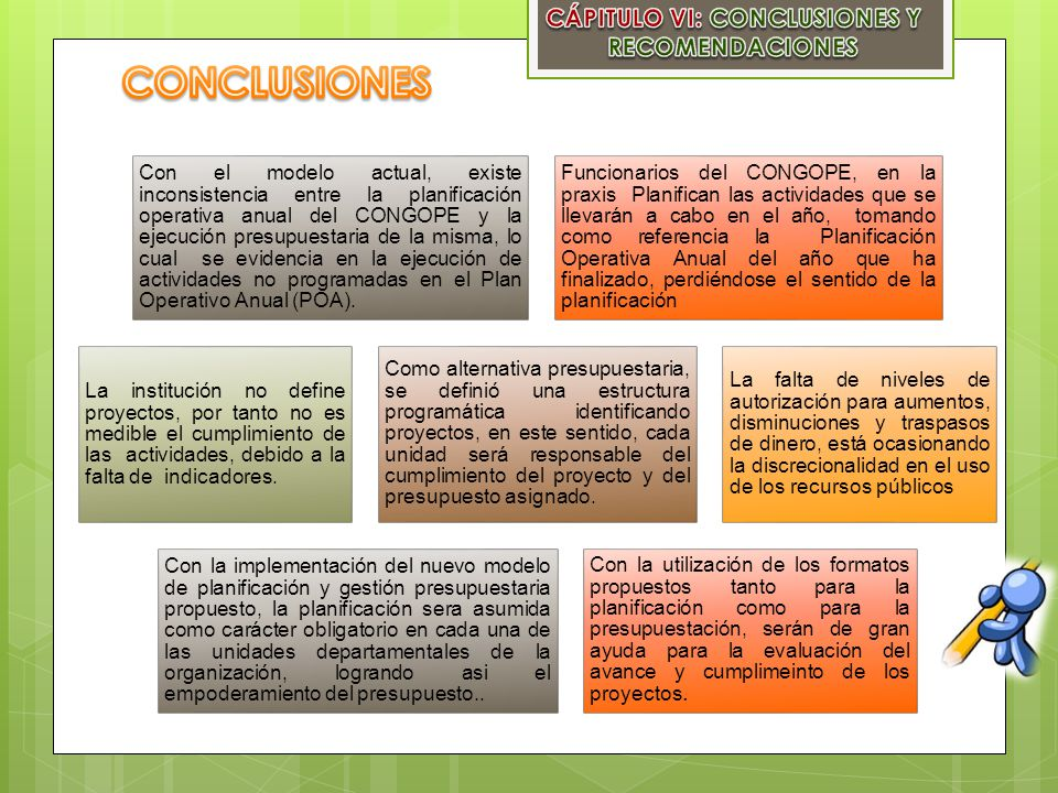 CÁPITULO VI: CONCLUSIONES Y RECOMENDACIONES