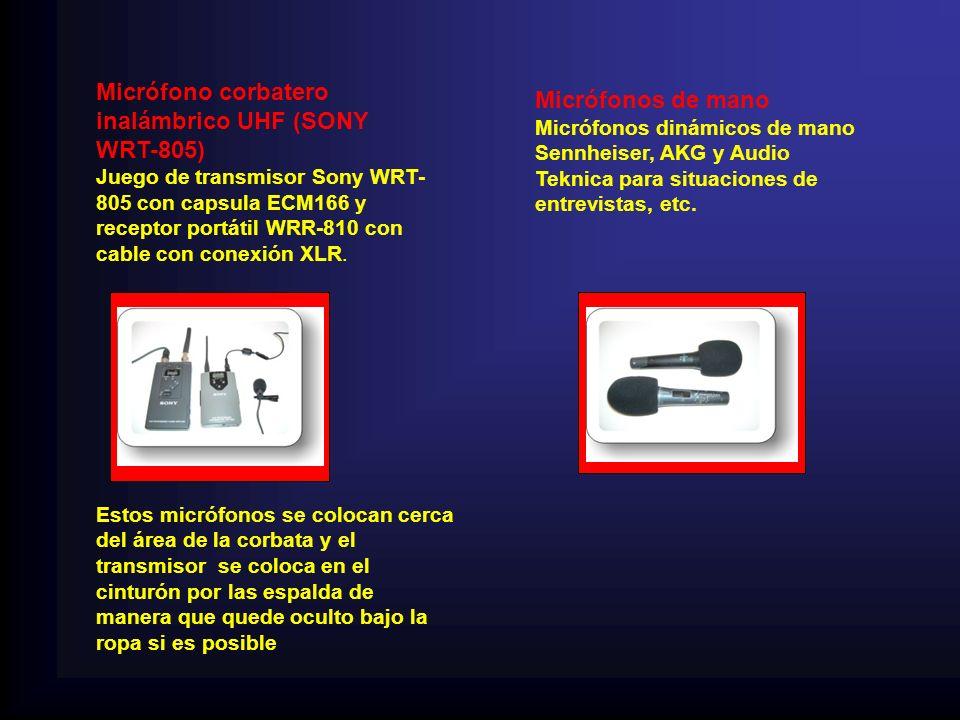 Micrófono corbatero inalámbrico UHF (SONY WRT-805) Micrófonos de mano