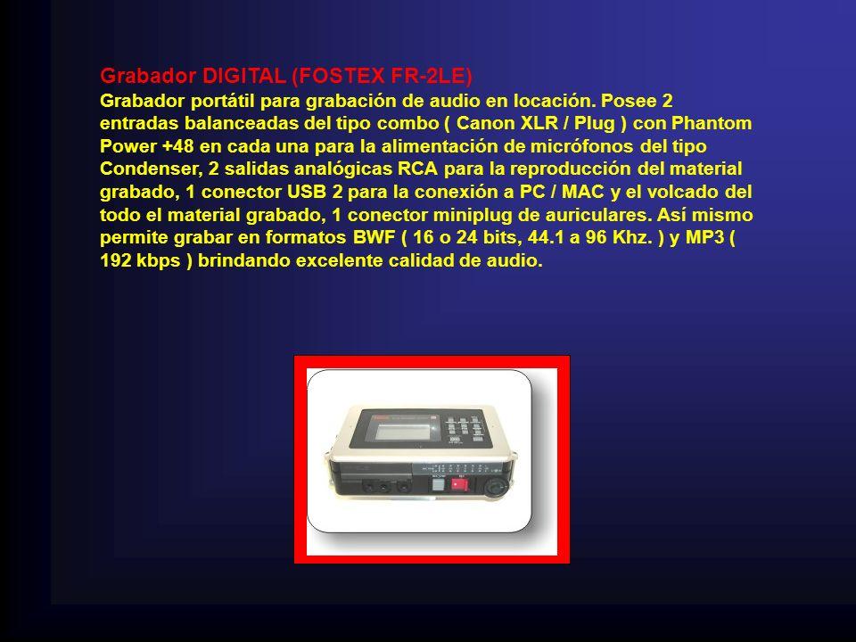 Grabador DIGITAL (FOSTEX FR-2LE)