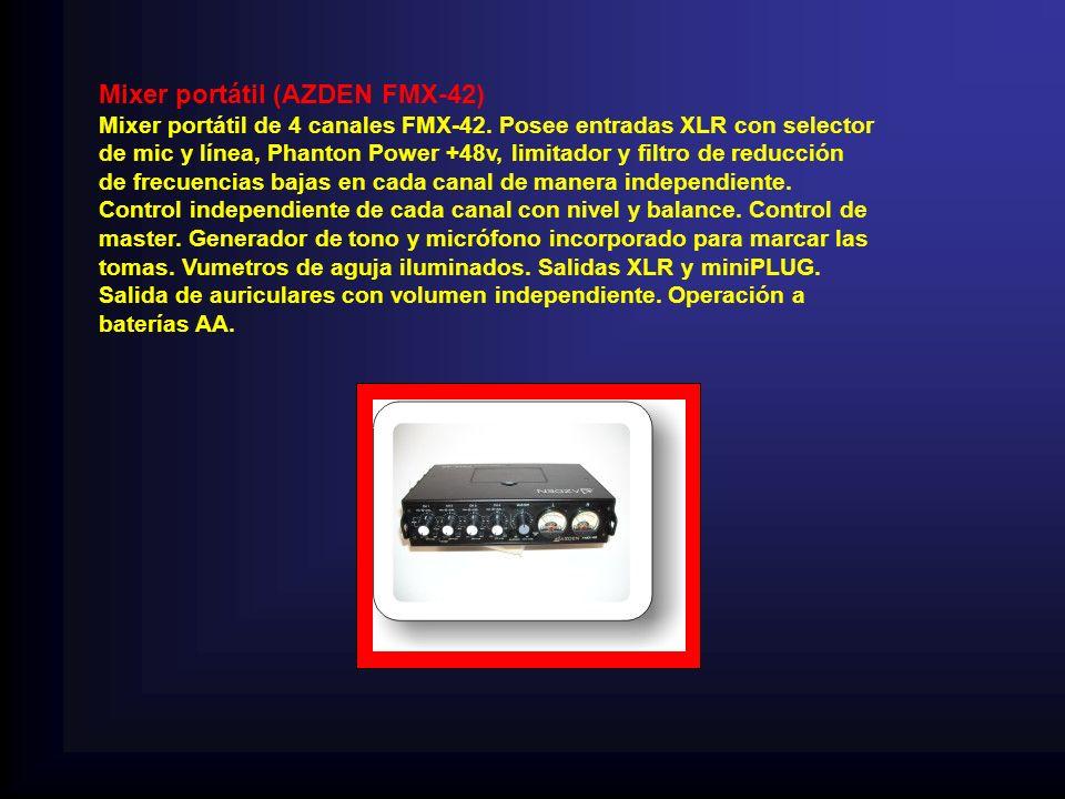 Mixer portátil (AZDEN FMX-42)