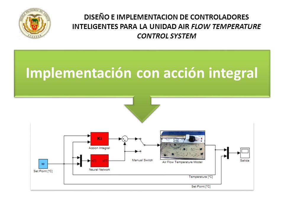 Implementación con acción integral