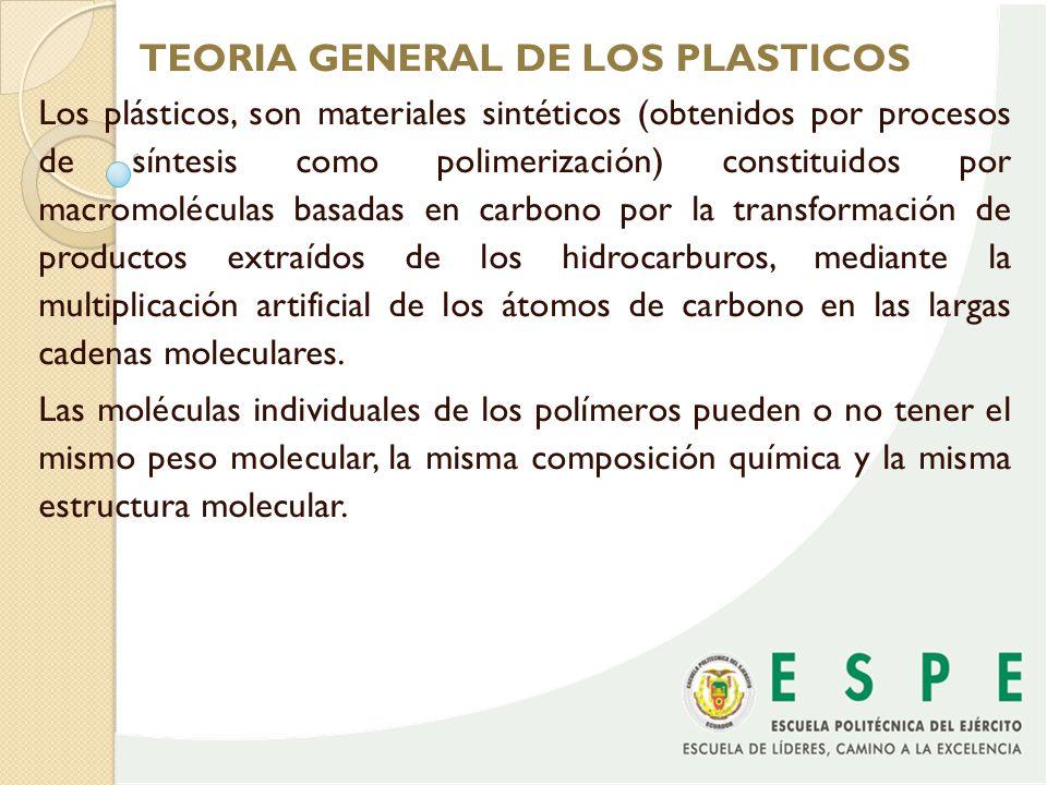 TEORIA GENERAL DE LOS PLASTICOS