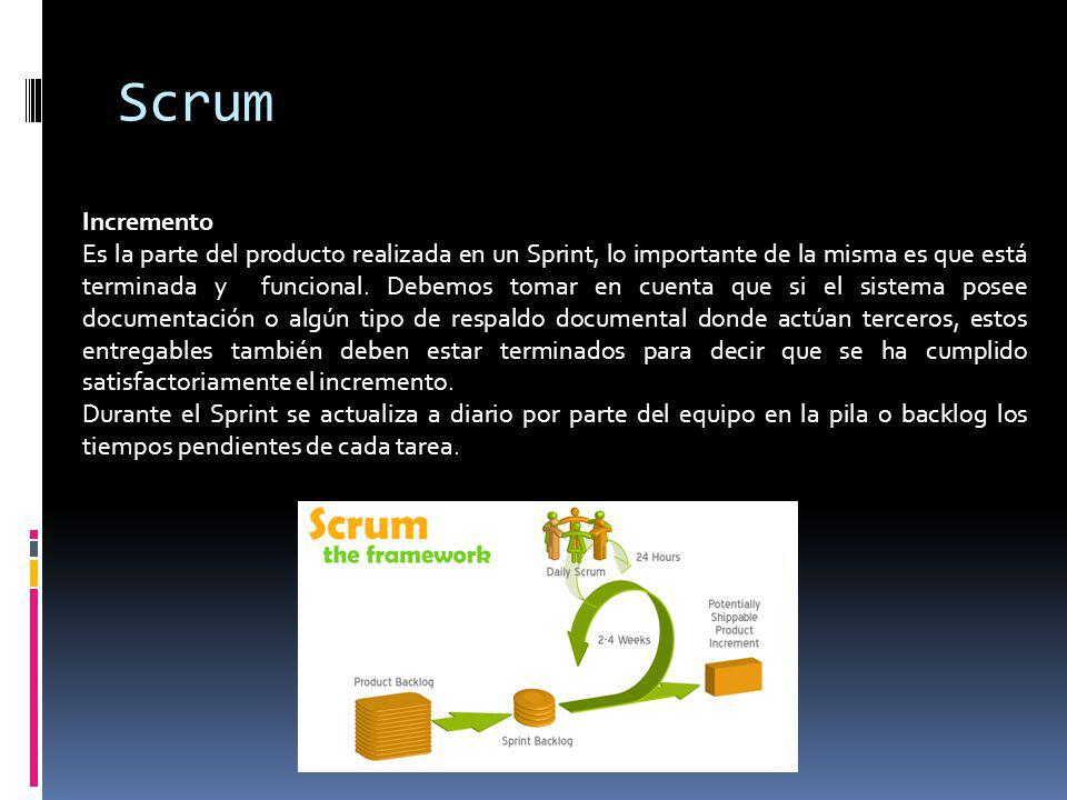 Scrum Incremento.
