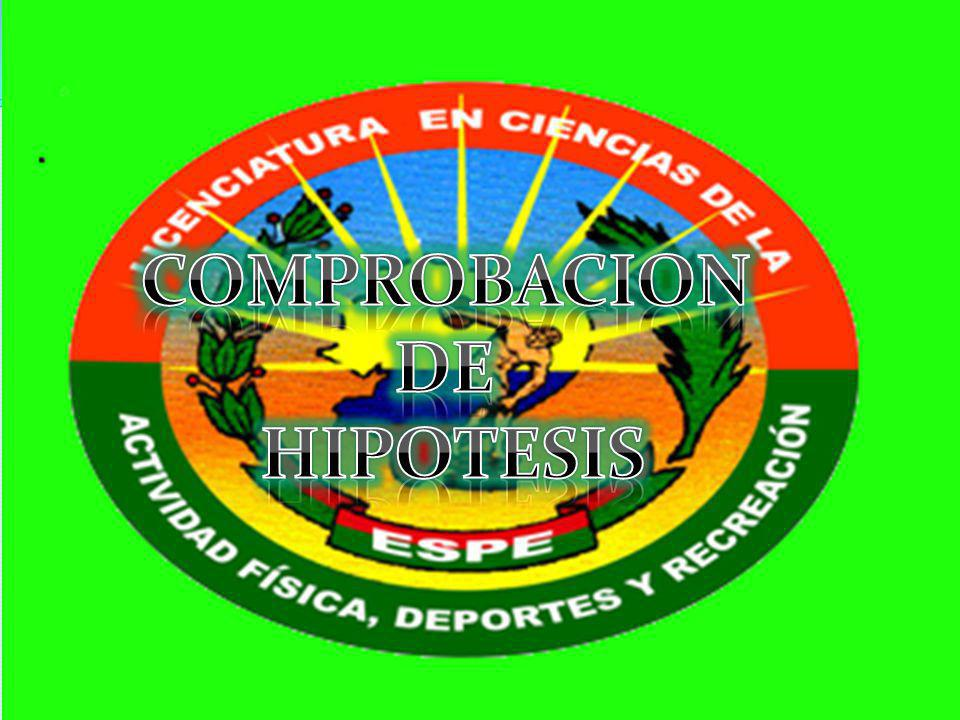 COMPROBACION DE HIPOTESIS