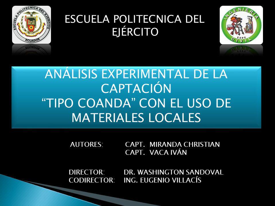 ANÁLISIS EXPERIMENTAL DE LA CAPTACIÓN