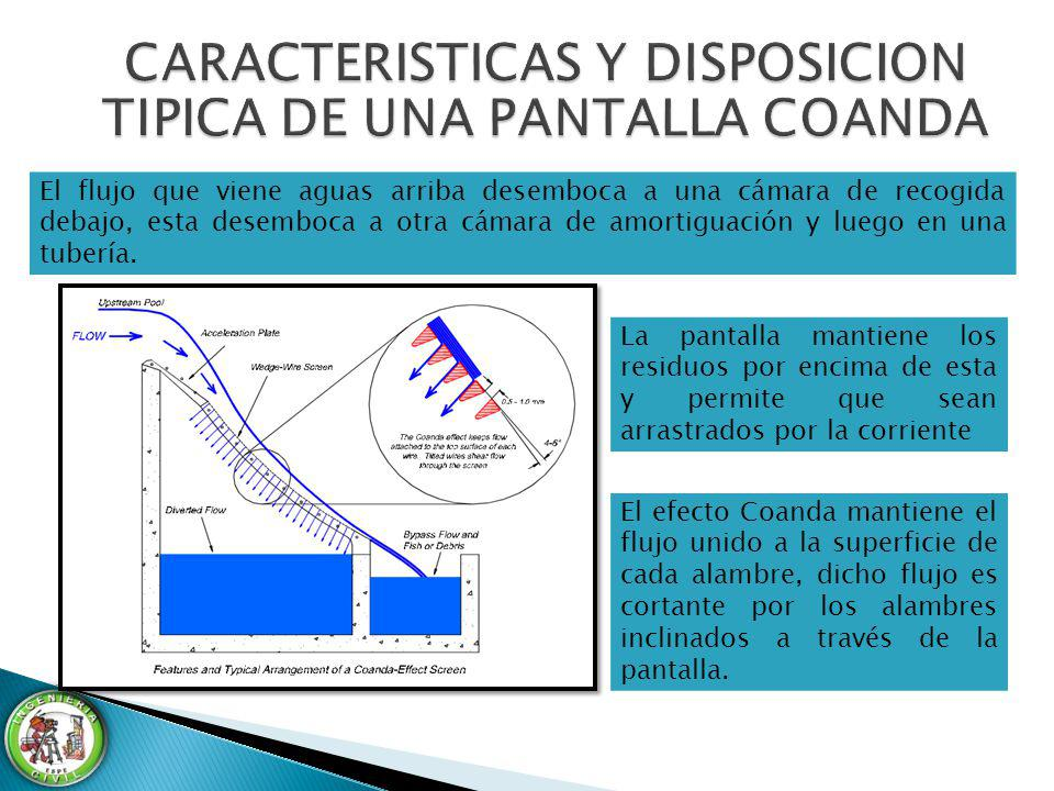 CARACTERISTICAS Y DISPOSICION TIPICA DE UNA PANTALLA COANDA