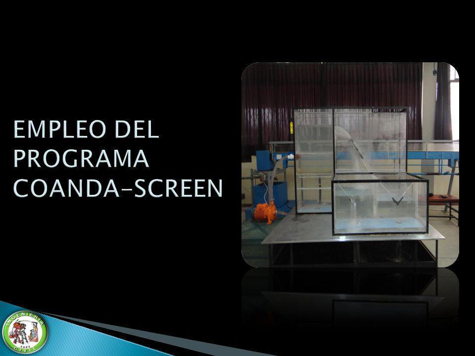 EMPLEO DEL PROGRAMA COANDA-SCREEN
