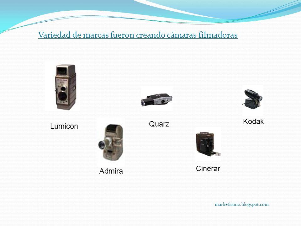Variedad de marcas fueron creando cámaras filmadoras