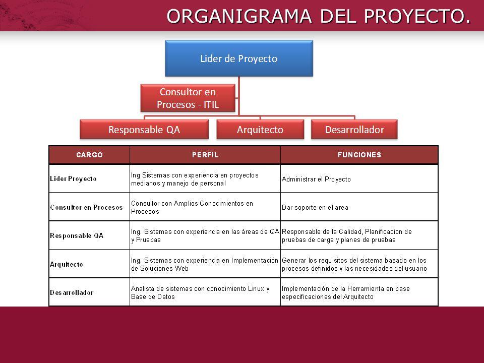 ORGANIGRAMA DEL PROYECTO.