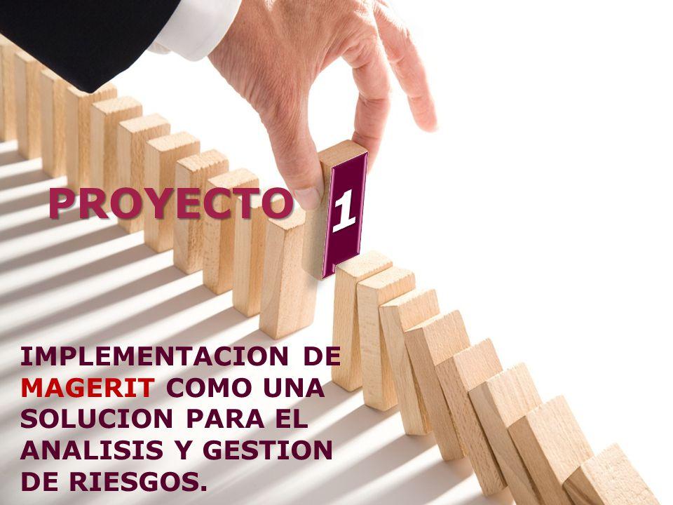 1 PROYECTO. IMPLEMENTACION DE MAGERIT COMO UNA SOLUCION PARA EL ANALISIS Y GESTION DE RIESGOS.