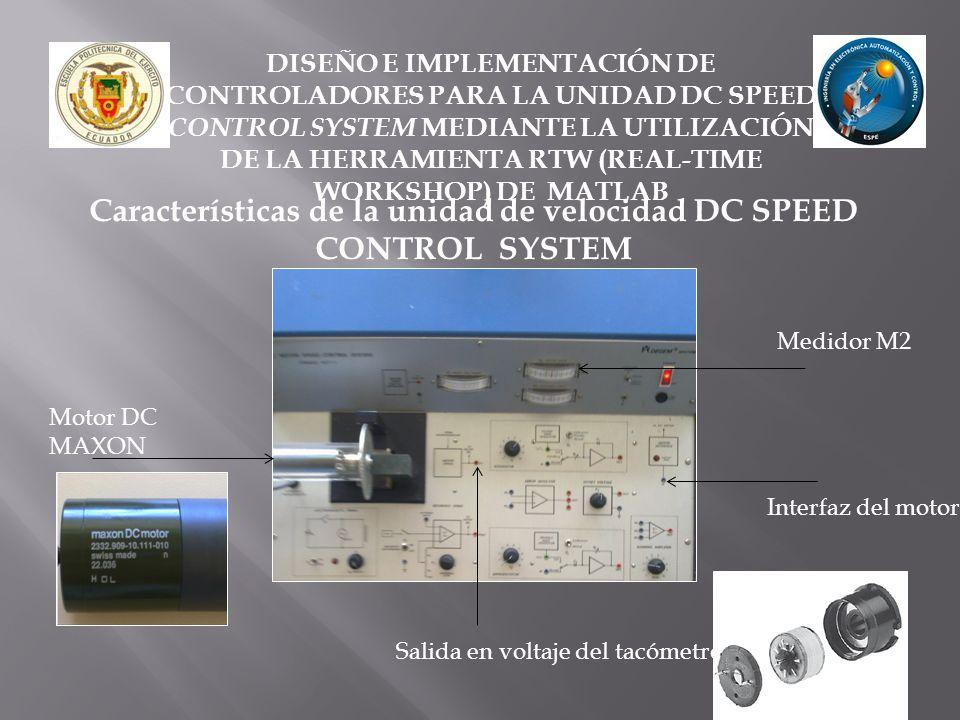 Características de la unidad de velocidad DC SPEED CONTROL SYSTEM