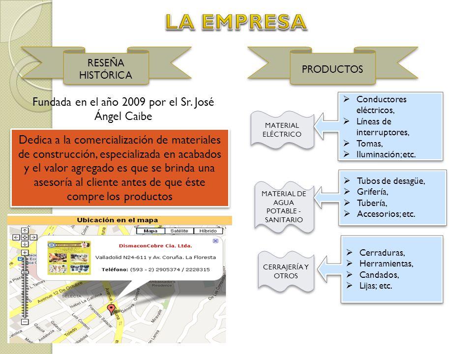 LA EMPRESA Fundada en el año 2009 por el Sr. José Ángel Caibe