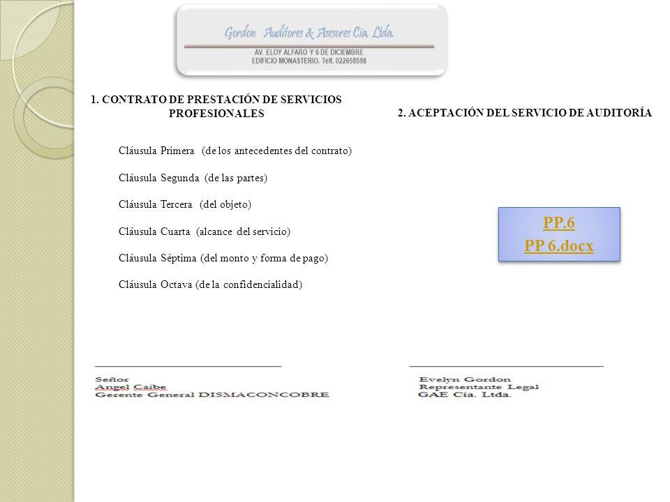 PP.6 PP 6.docx 1. CONTRATO DE PRESTACIÓN DE SERVICIOS PROFESIONALES