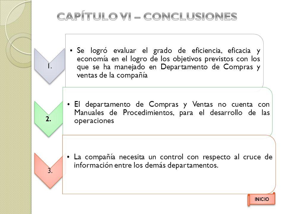 CAPÍTULO VI – CONCLUSIONES