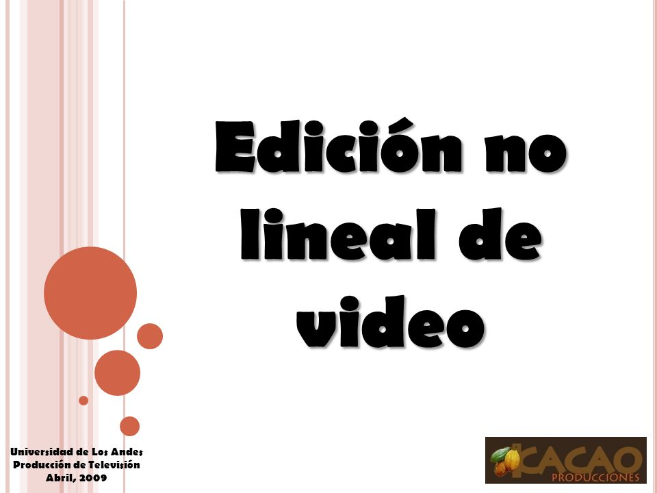 Edición no lineal de video