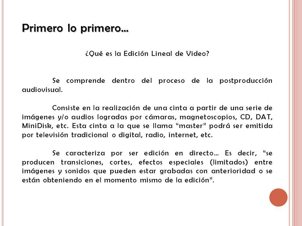 ¿Qué es la Edición Lineal de Video