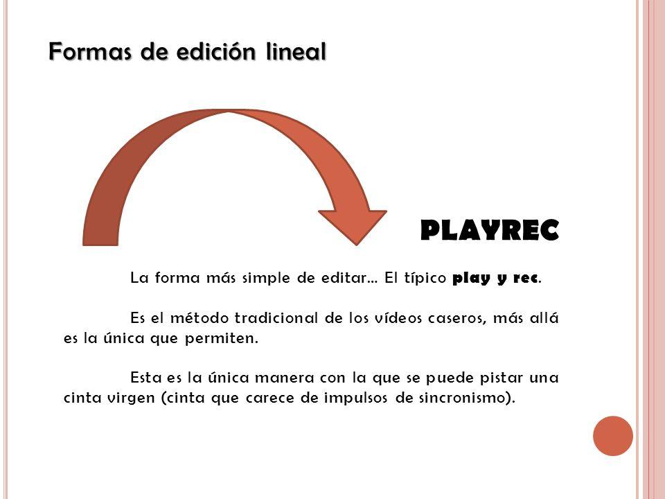 PLAYREC Formas de edición lineal