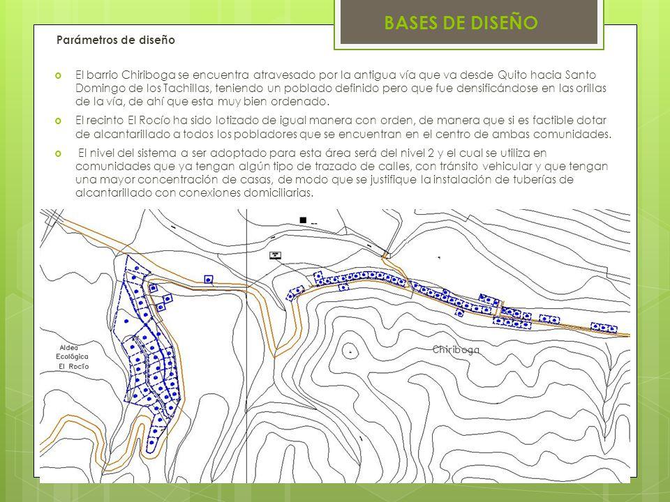 BASES DE DISEÑO Parámetros de diseño