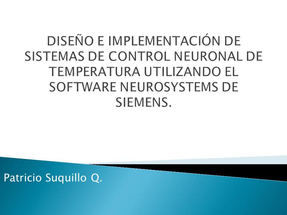 DISEÑO E IMPLEMENTACIÓN DE SISTEMAS DE CONTROL NEURONAL DE TEMPERATURA UTILIZANDO EL SOFTWARE NEUROSYSTEMS DE SIEMENS.