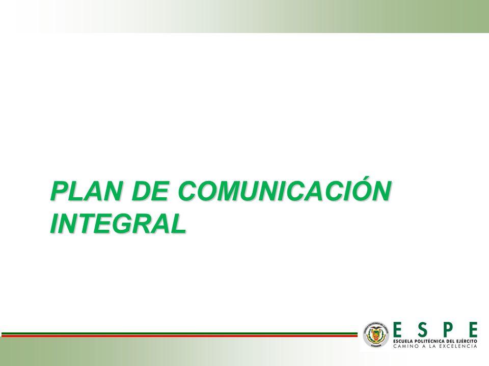 Plan de comunicación integral