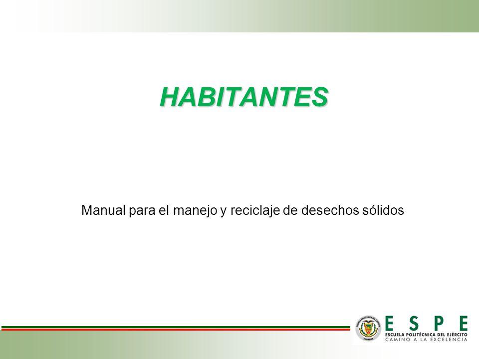 Manual para el manejo y reciclaje de desechos sólidos