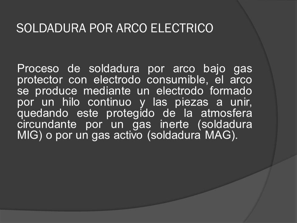 SOLDADURA POR ARCO ELECTRICO