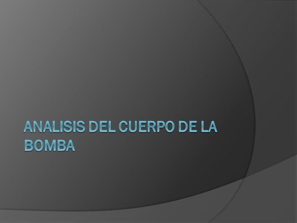 ANALISIS DEL CUERPO DE LA BOMBA