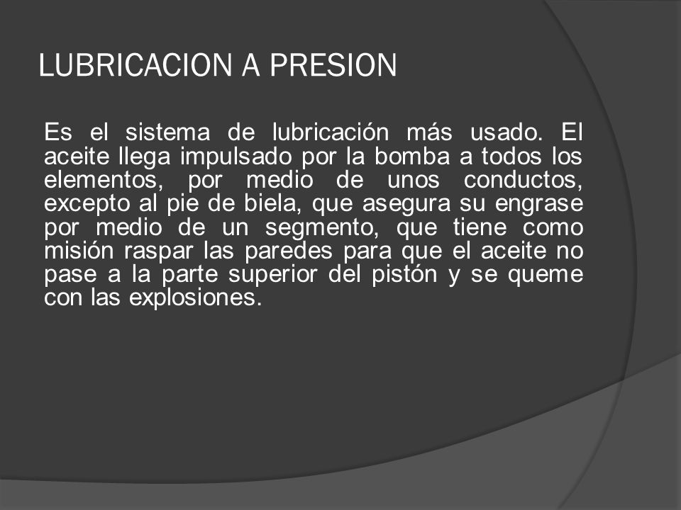 LUBRICACION A PRESION