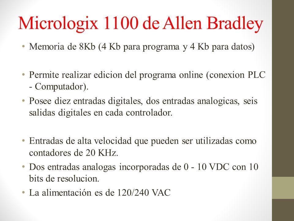 Micrologix 1100 de Allen Bradley