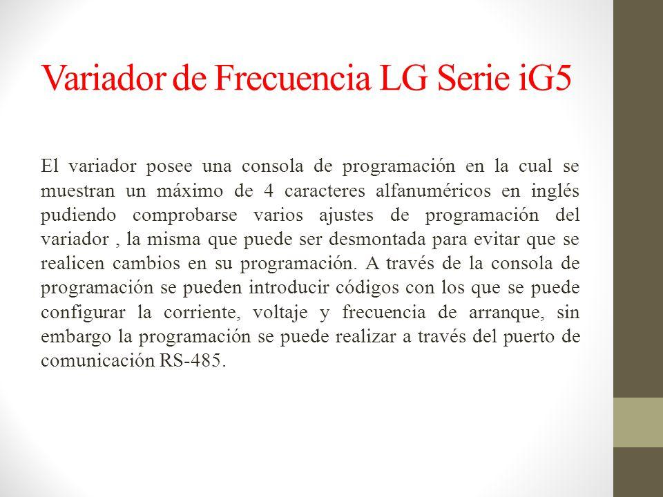 Variador de Frecuencia LG Serie iG5