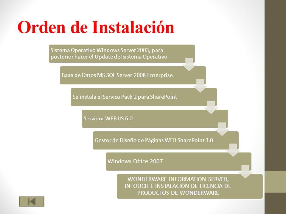 Orden de Instalación Windows Office 2007