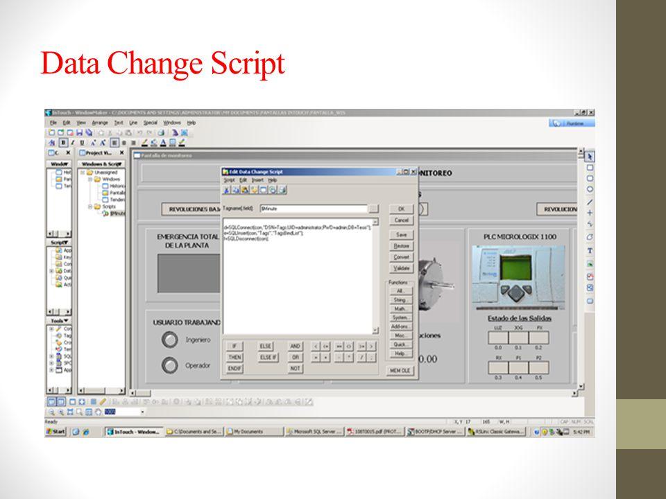 Data Change Script