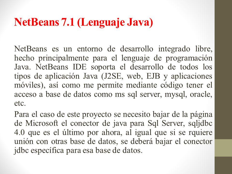 NetBeans 7.1 (Lenguaje Java)